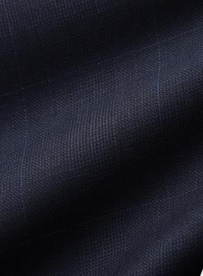 핀 체크 레귤러 울수트 자켓