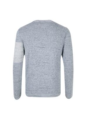 와플조직 포인트 스웨터 (BL)