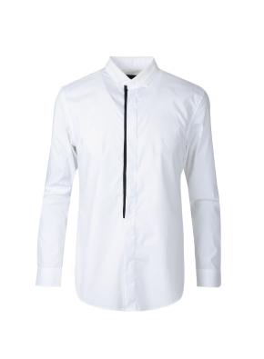 니트 카라 스트레치 셔츠