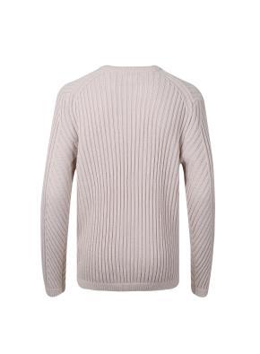 울 아크릴 혼방 변형 골무늬 조직 스웨터 (LPK)