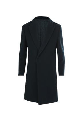 울혼방 세미반더블 피크드라펠 코트