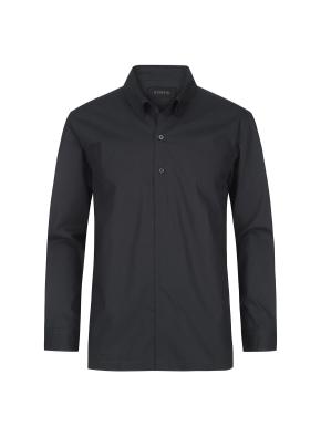 코튼 오픈형 스냅카라 셔츠