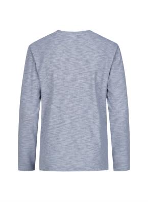 슬릿 넥 멜란지 티셔츠 (BL)