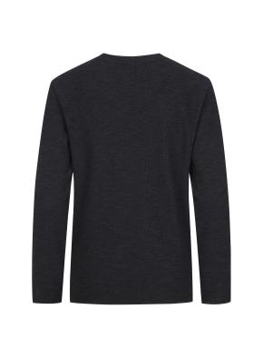 슬릿 넥 멜란지 티셔츠 (CGR)