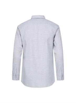 코튼 믹스 핀 스트라이프 셔츠 (GR)