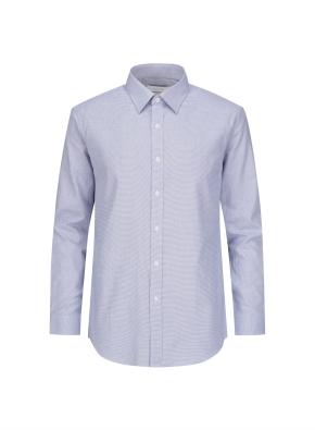 코튼 마이크로패턴 드레스셔츠 (BL)