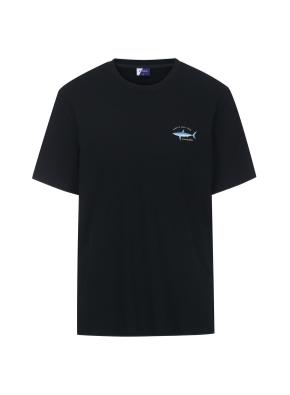 그래픽 THE PACIFIC 티셔츠 (BK)