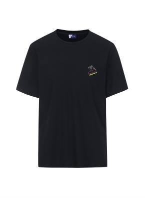 그래픽 THE GREAT 티셔츠 (BKB)