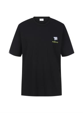 [NOVO X 지오지아] BACK 프린트 오버핏 티셔츠(BK)