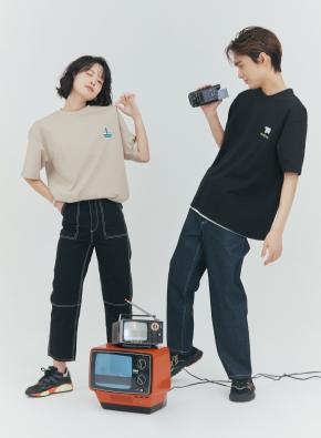 [NOVO X 지오지아] 캐주얼 오버핏 티셔츠(KH)