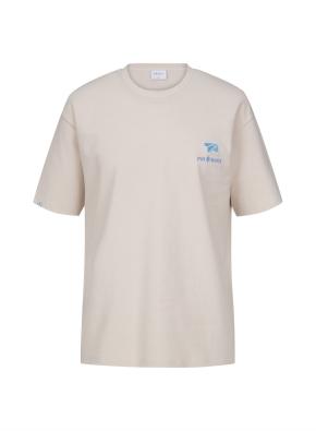 [NOVO X 지오지아] BACK 프린트 오버핏 티셔츠(LPK)