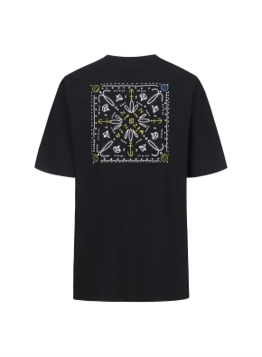 [NOVO X 지오지아] 그래픽 로고 오버핏 티셔츠(BKB)