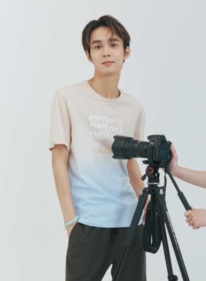 [NOVO X 지오지아] 오가닉 다잉 그라데이션 티셔츠(BE)