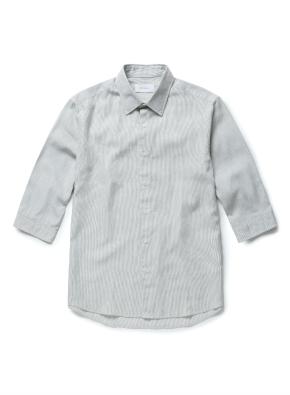 린넨 멀티 스트라이프 셔츠