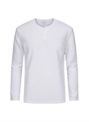 헨리넥 히든 슬릿 티셔츠