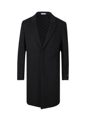 울캐시 히든 싱글 체스터 코트 (CGR)