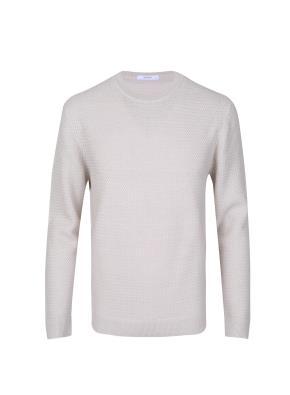 울혼방 투톤 조직 스웨터 (IV)