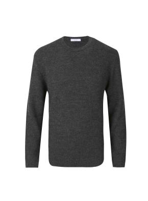 울혼방 라운드넥  스웨터 (DGR)