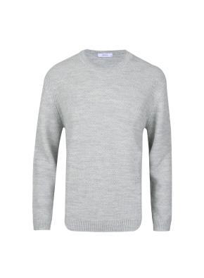 울혼방 라운드넥  스웨터 (LGR)
