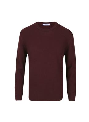 울혼방 라운드넥  스웨터 (WN)