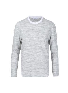 면혼방 자카드 투톤 티셔츠