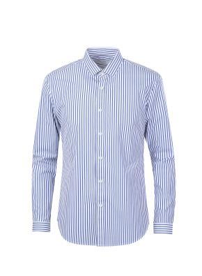 포플린 스트라이프 캐쥬얼 셔츠