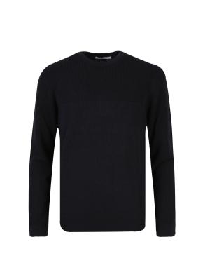 모혼방 라운드넥 스웨터 (NV)