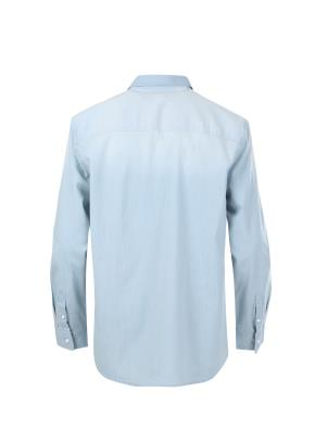 스판 포켓 리던포인트 데님 셔츠
