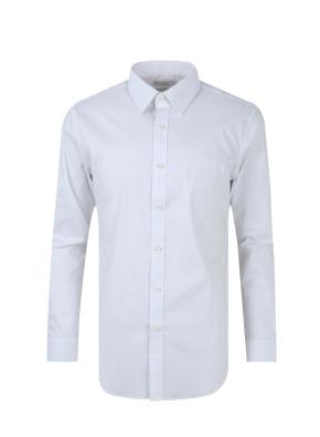 레귤러카라 스판 코튼 혼방 드레스 셔츠 (WT)
