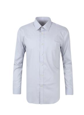 세미와이드카라 스판 코튼 혼방 드레스 셔츠 (GR)