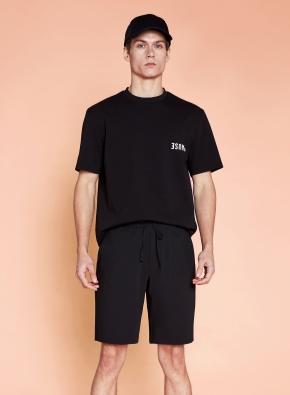 면혼방 백포인트 그래픽 티셔츠 (BK)