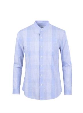 체크 도비조직 캐쥬얼 셔츠 (BL)
