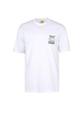bowling 원포인트 오버핏 그래픽 티셔츠 (WT)