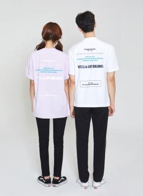 bowling 백프린트 오버핏 그래픽 티셔츠 (PP)
