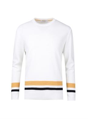 밑단 블럭 베이직 스웨터