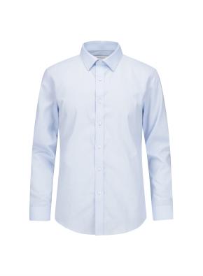 폴리혼방 슬림핏 드레스셔츠 (BL)