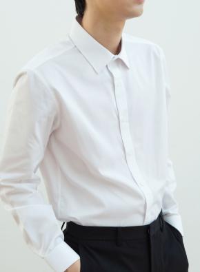 폴리혼방 슬림핏 드레스셔츠 (WT)