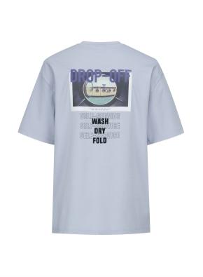 런드리 그래픽 오버핏 티셔츠 (BL)