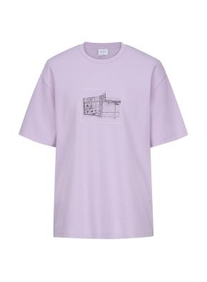 런드리 그래픽 오버핏 티셔츠 (PP)