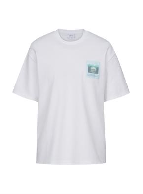 런드리 그래픽 오버핏 티셔츠 (WTB)