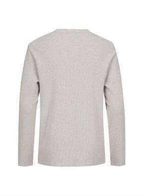 와플 조직 베이직 기모 티셔츠