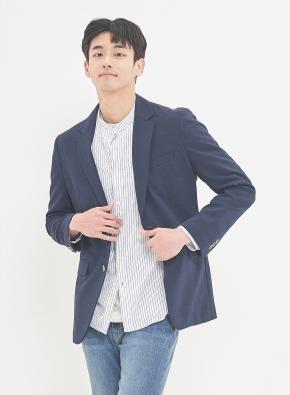 [셔츠증정] 멜란지네이비 에어 자켓