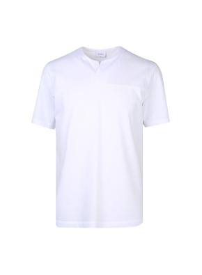 면혼방 넥변형 티셔츠 (WT)