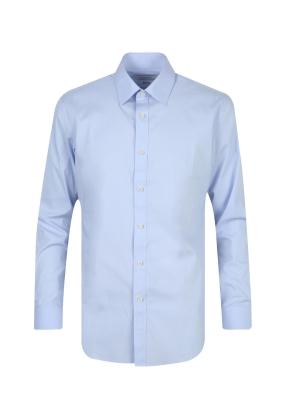 스판 코튼 혼방 솔리드 드레스 셔츠 (BL)