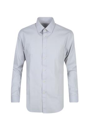 스판 코튼 혼방 솔리드 드레스 셔츠 (GR)