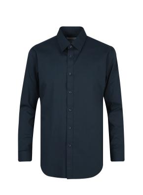 스판 코튼 혼방 솔리드 드레스 셔츠 (NV)