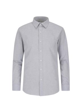 폴리 혼방 솔리드 드레스 셔츠(MGR)