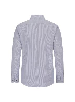 폴리 면혼방 스트라이프 드레스 셔츠