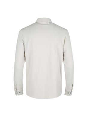 헤링본 자카드 셔츠 타입 티셔츠 (IV)