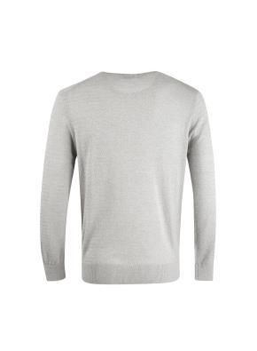 면혼방 멜란지 잔조직 풀오버 스웨터 (GR)